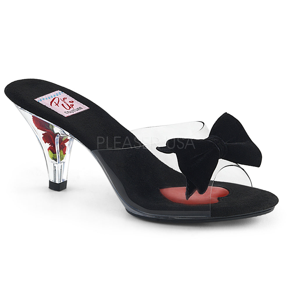 "3"" Heel BELLE-301BOW Clear Black"