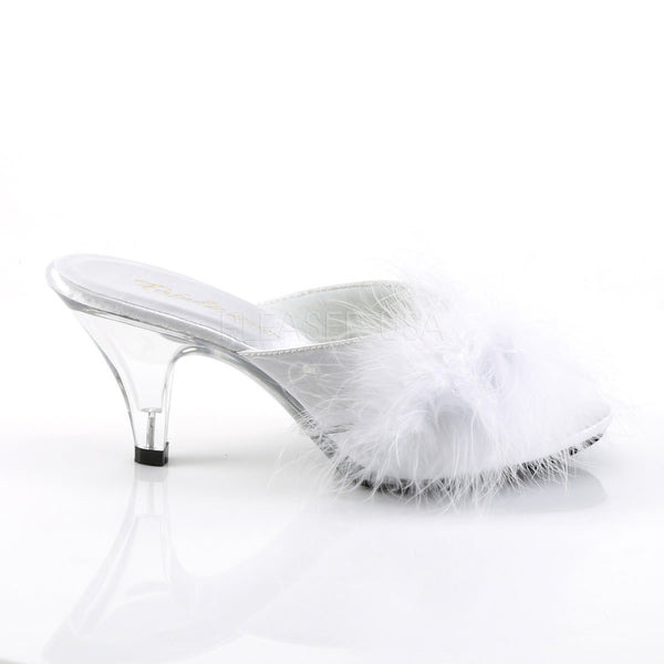 Fabulicious BELLE-301F White Fur Sandals