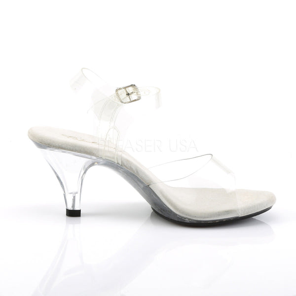 Fabulicious BELLE-308 Clear Ankle Strap Sandals
