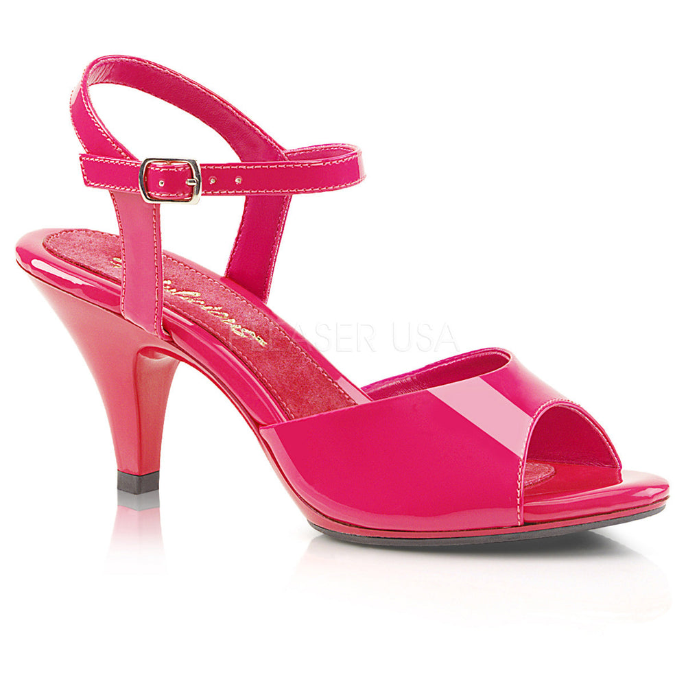Fabulicious BELLE-309 Hot Pink Ankle Strap Sandal