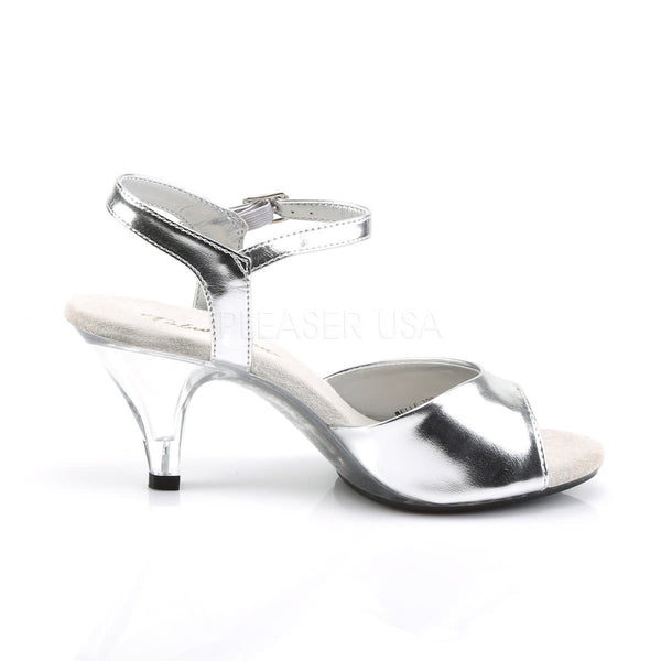 Fabulicious BELLE-309 Silver Metallic Pu Ankle Strap Sandals