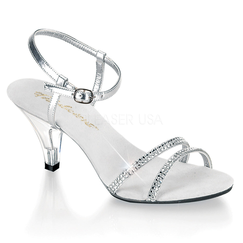 Homecoming Heels, Silver Glitter Prom