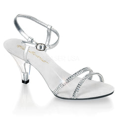 Fabulicious BELLE-316 Silver Metallic Pu Ankle Strap Sandals - Shoecup.com