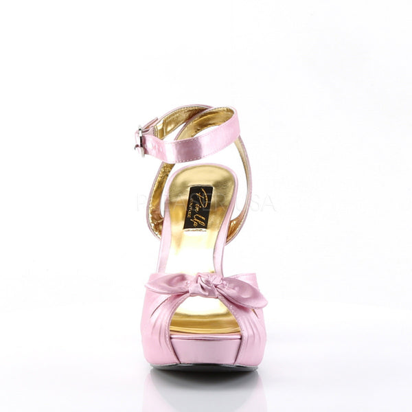 Pin Up Couture BETTIE-04 Baby Pink Satin Peep Toe Sandals - Shoecup.com - 4