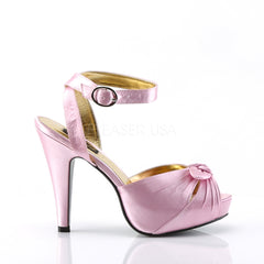 Pin Up Couture BETTIE-04 Baby Pink Satin Peep Toe Sandals - Shoecup.com - 3