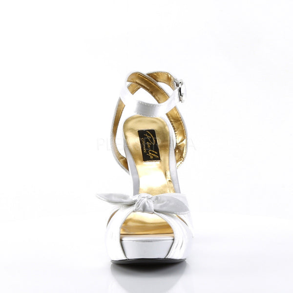 Pin Up Couture BETTIE-04 Ivory Satin Peep Toe Sandals - Shoecup.com - 4