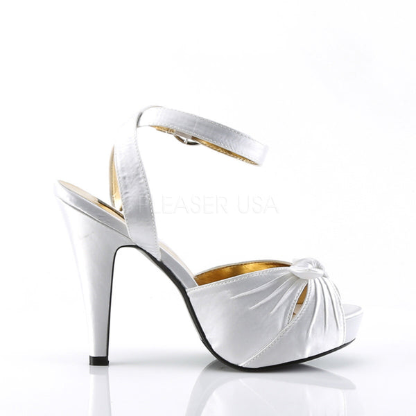 Pin Up Couture BETTIE-04 Ivory Satin Peep Toe Sandals - Shoecup.com - 3