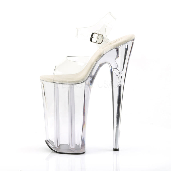 PLEASER BEYOND-008 Clear Extreme 10 Inch High Heels - Shoecup.com - 3