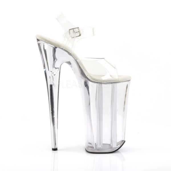 PLEASER BEYOND-008 Clear Extreme 10 Inch High Heels