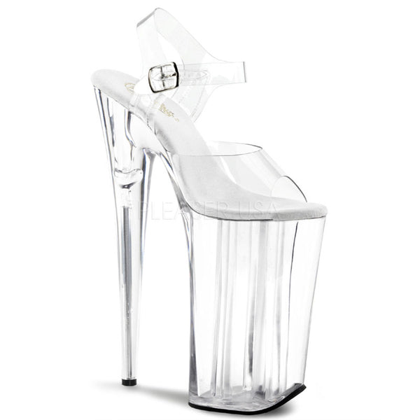 PLEASER BEYOND-008 Clear Extreme 10 Inch High Heels - Shoecup.com - 1