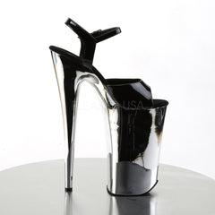 PLEASER BEYOND-009 Black-Silver Chrome Extreme 10 Inch High Heels - Shoecup.com - 5