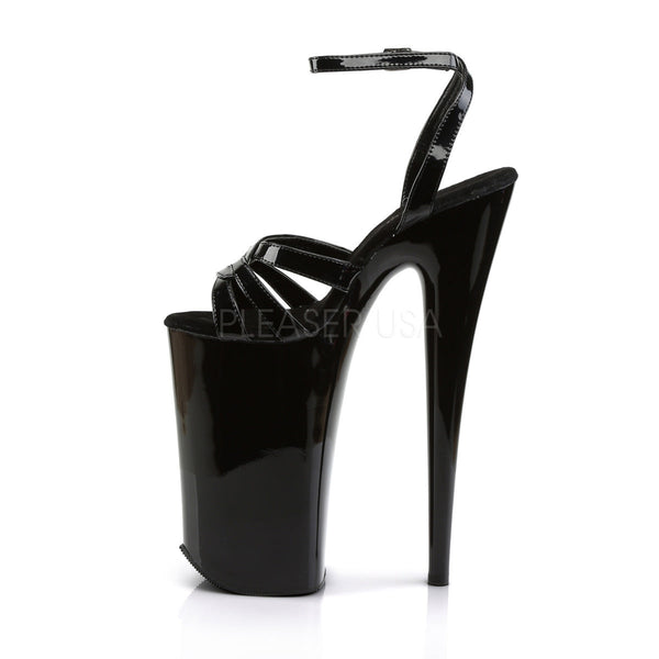 Pleaser BEYOND-012 Black 10 Inch Heel Ankle Strap Sandals - Shoecup.com - 3