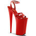 Pleaser BEYOND-012 Red 10 Inch Ankle Strap Sandals - Shoecup.com - 1