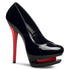 PLEASER BLONDIE-685 Black Pat-Red Stiletto Pumps - Shoecup.com - 1