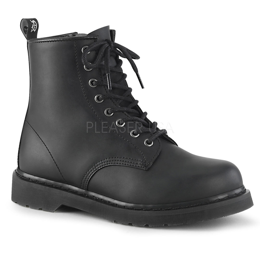 "1"" Heel BOLT-100 Black Vegan Leather"
