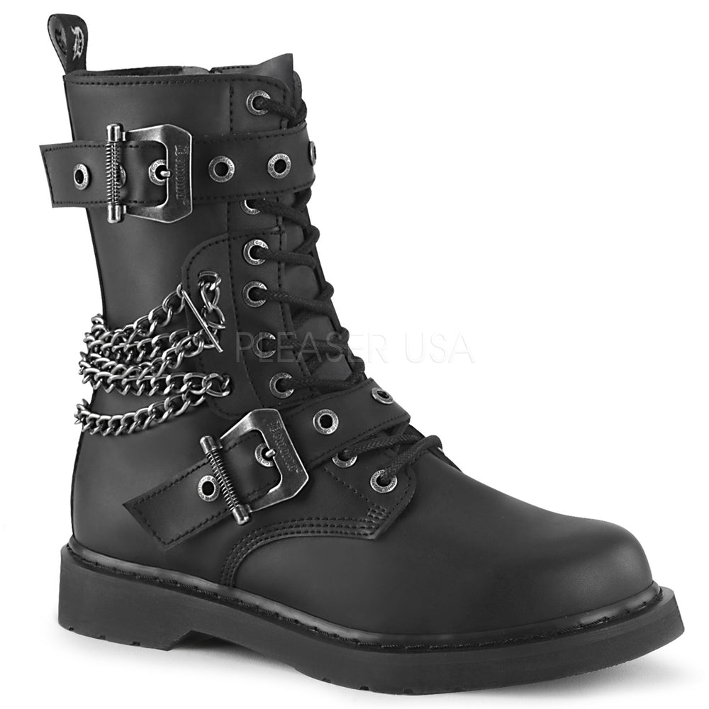 "1"" Heel BOLT-250 Black Vegan Leather"