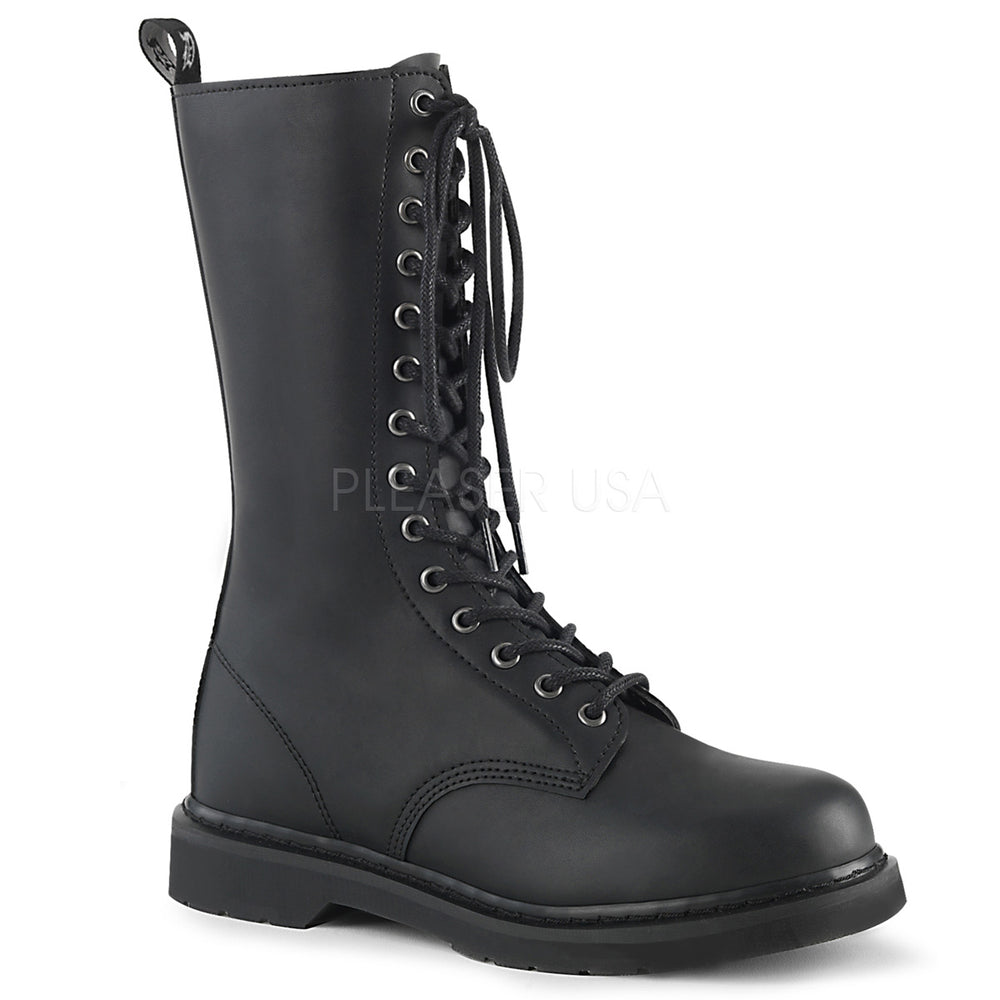 "1"" Heel BOLT-300 Black Vegan Leather"