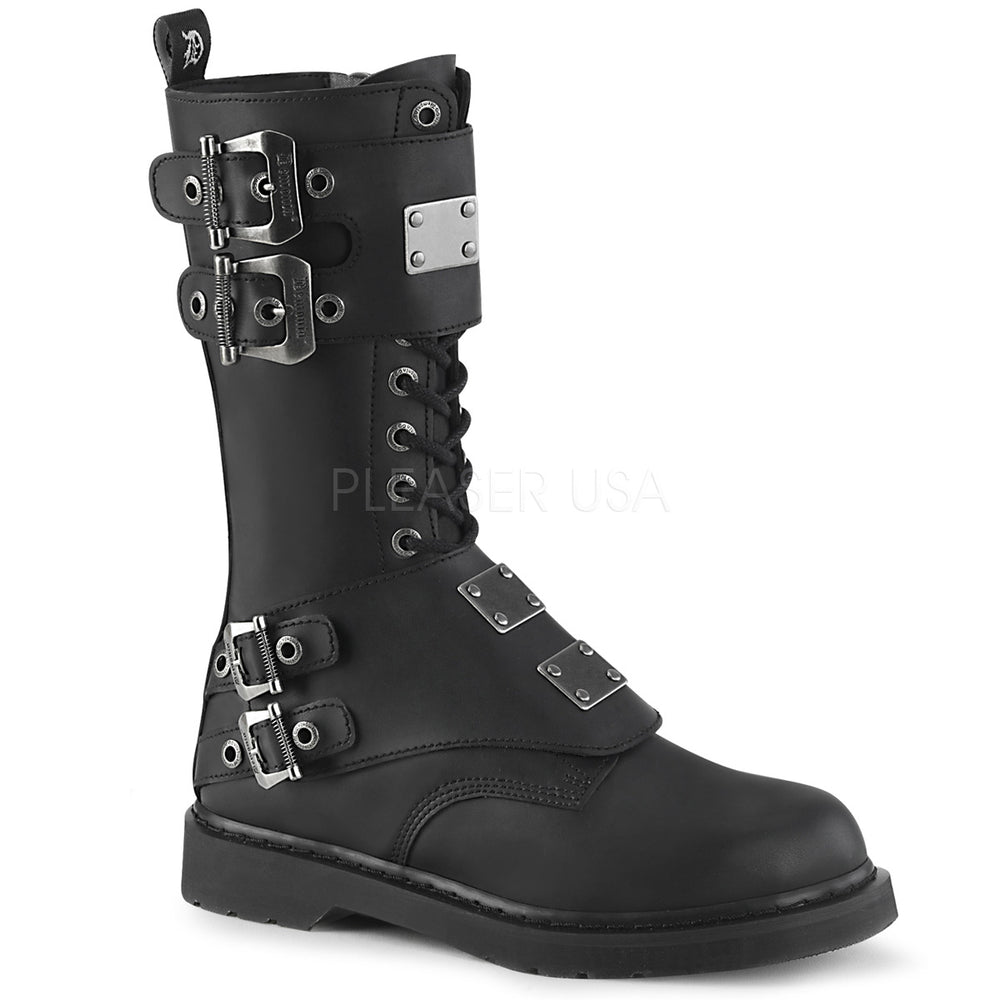 "1"" Heel BOLT-345 Black Vegan Leather"