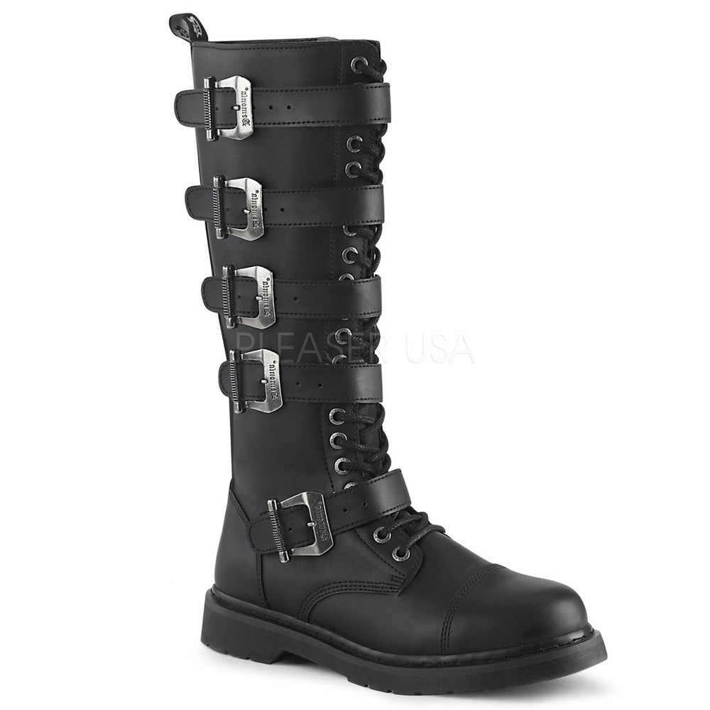 "1"" Heel BOLT-425 Black Vegan Leather"