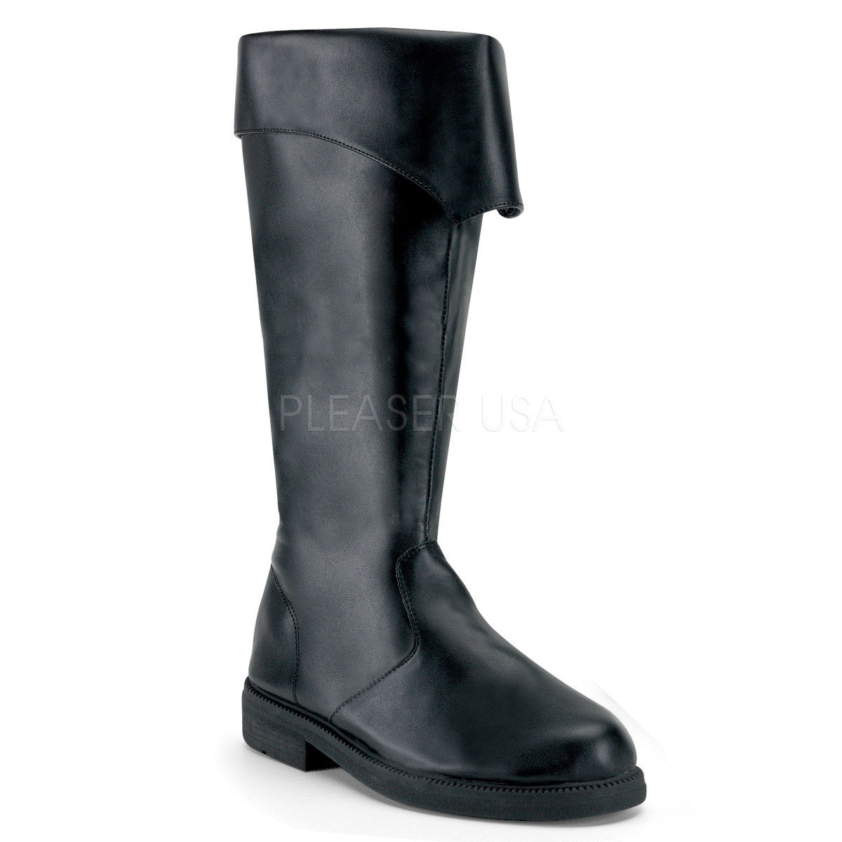 Men's Black Pu Pirate Boots - Shoecup.com