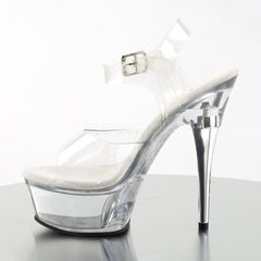 PLEASER CAPTIVA-608 Clear Ankle Strap Sandals - Shoecup.com - 3