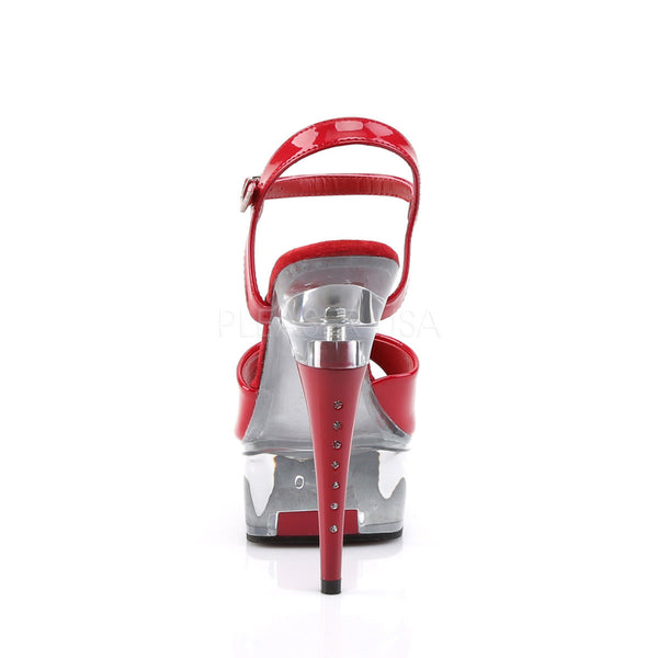 PLEASER CAPTIVA-609 Red Pat-Clear Ankle Strap Sandals - Shoecup.com - 4