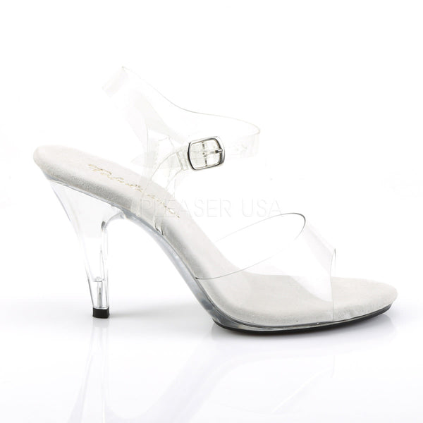 FABULICIOUS CARESS-408 Clear-Clear Ankle Strap Sandals
