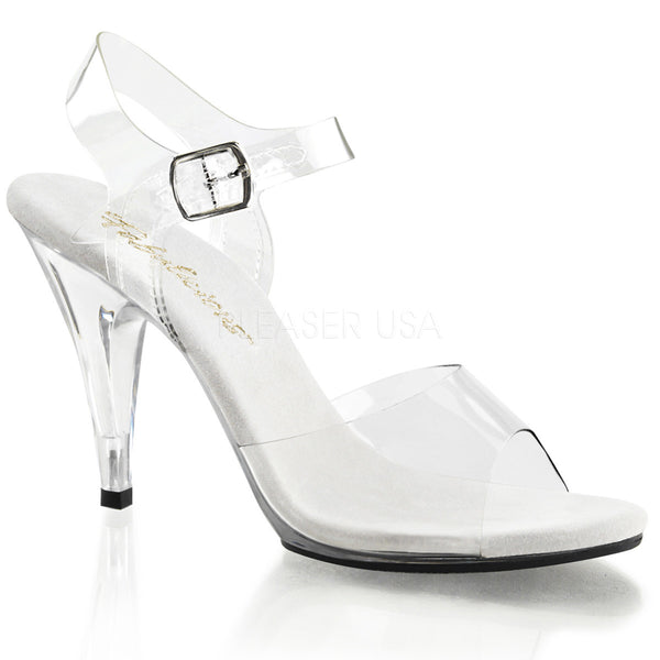 Fabulicious,FABULICIOUS CARESS-408 Clear-Clear Ankle Strap Sandals - Shoecup.com
