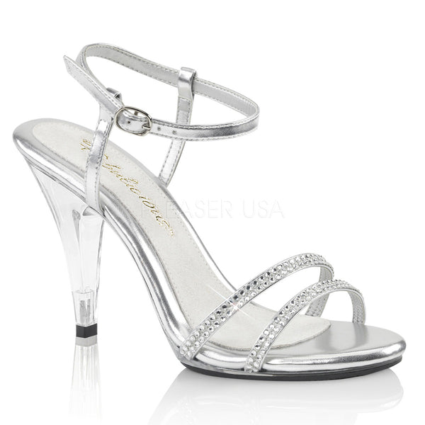 88bb01679d8 Fabulicious CARESS-416 Silver Ankle Strap Sandals - Shoecup.com - 1