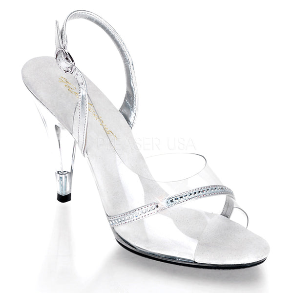 Fabulicious,FABULICIOUS CARESS-456 Clear-Silver Metallic Pu-Clear Slingback Sandals - Shoecup.com