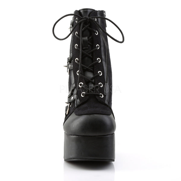 Demonia CHARADE-100 Black Block Heel Boots - Shoecup.com - 2