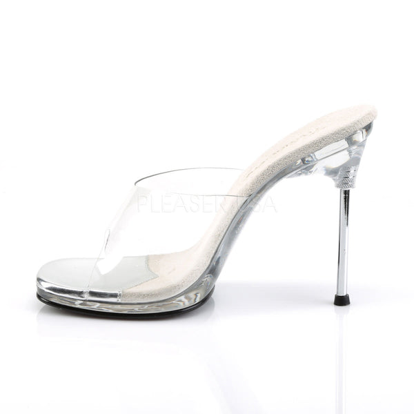 FABULICIOUS CHIC-01 Clear-Clear Stiletto Slides