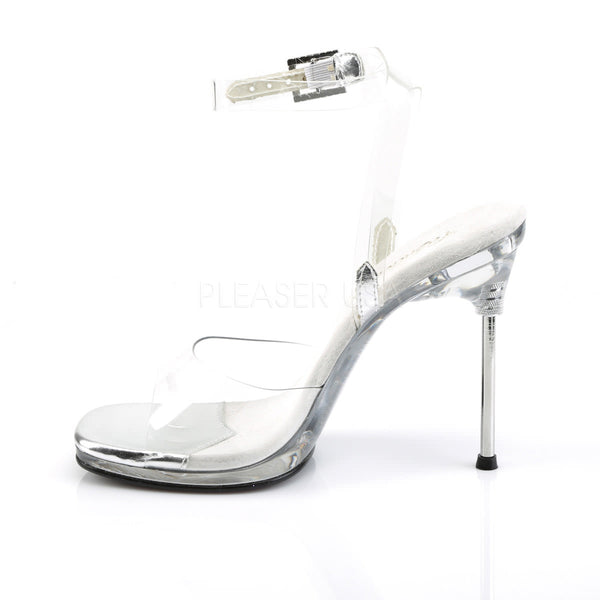 FABULICIOUS CHIC-06 Clear-Clear Ankle Strap Sandals
