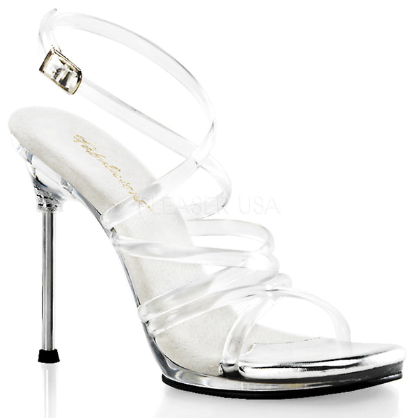 Fabulicious,FABULICIOUS CHIC-07 Clear-Clear Ankle Strap Sandals - Shoecup.com