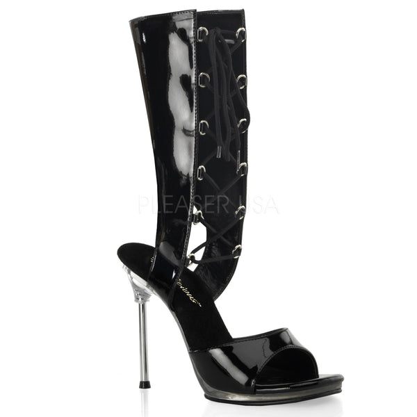 Fabulicious,FABULICIOUS CHIC-65 Black Pat-Clear Mid Calf Boots - Shoecup.com