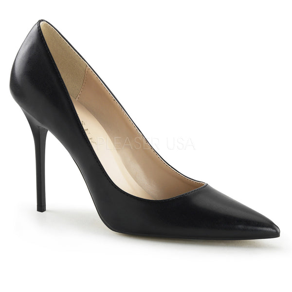 PLEASER CLASSIQUE-20 Black Pu Pumps - Shoecup.com - 1