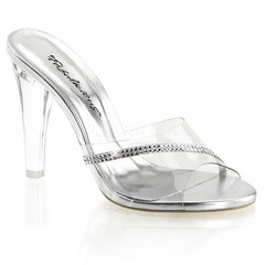 Fabulicious,FABULICIOUS CLEARLY-401R Clear Lucite Slides - Shoecup.com