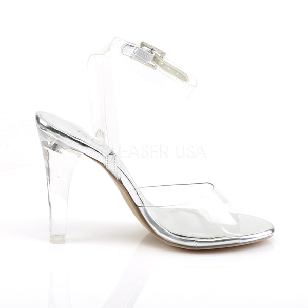 FABULICIOUS CLEARLY-406 Clear Lucite Ankle Strap Sandals