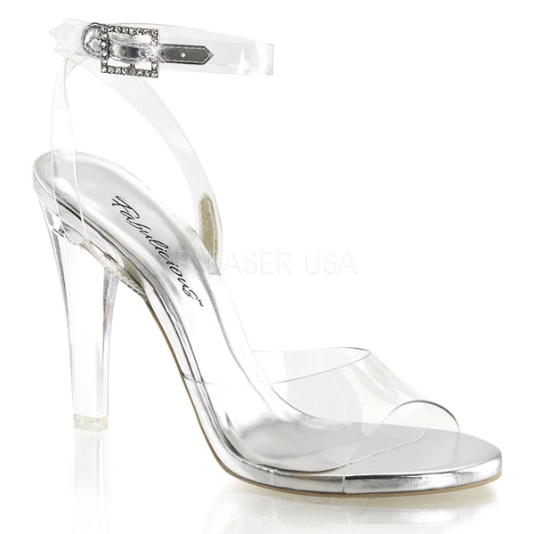 Fabulicious,FABULICIOUS CLEARLY-406 Clear Lucite Ankle Strap Sandals - Shoecup.com