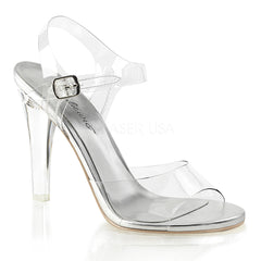 Fabulicious CLEARLY-408 Clear Ankle Strap Sandals - Shoecup.com - 1