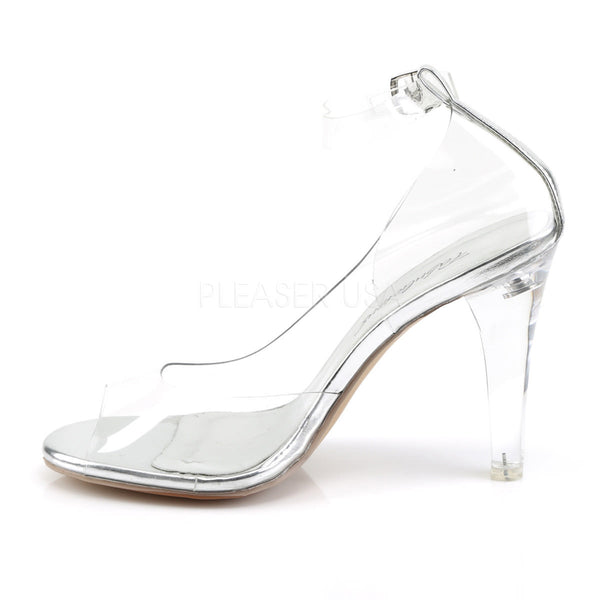 FABULICIOUS CLEARLY-430 Clear Ankle Strap Sandals