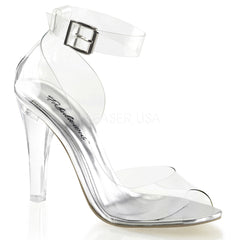 Fabulicious,FABULICIOUS CLEARLY-430 Clear Ankle Strap Sandals - Shoecup.com