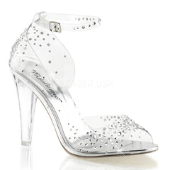Fabulicious,FABULICIOUS CLEARLY-430RS Clear Lucite D'Orsay Sandals - Shoecup.com