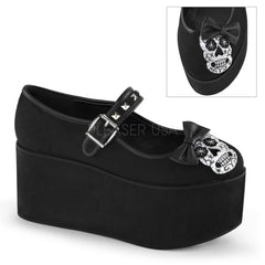 Demonia,Demonia CLICK-02-3 Black Canvas Mary Jane - Shoecup.com