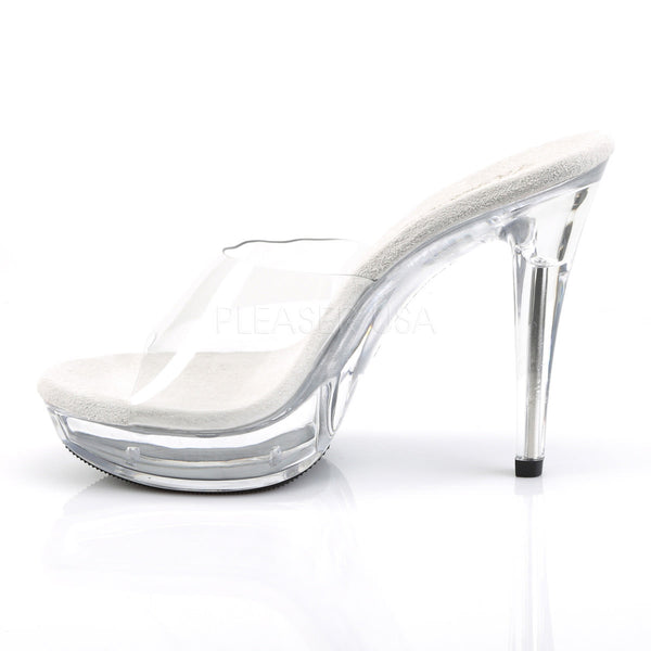 FABULICIOUS COCKTAIL-501 Clear-Clear Platform Slides