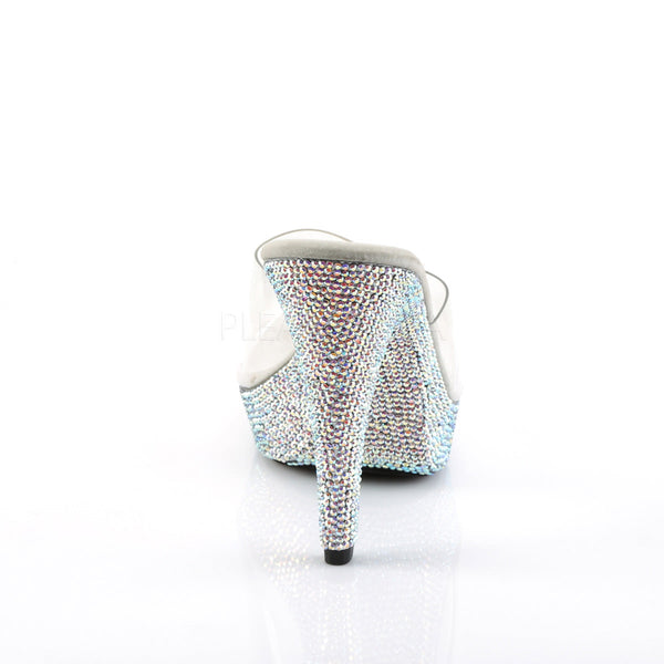 FABULICIOUS COCKTAIL-501DM Clear-Silver Multi RS Platform Slides