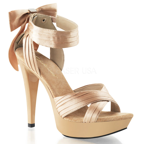 FABULICIOUS COCKTAIL-568 Champagne Satin-Champagne Closed Back Sandals - Shoecup.com