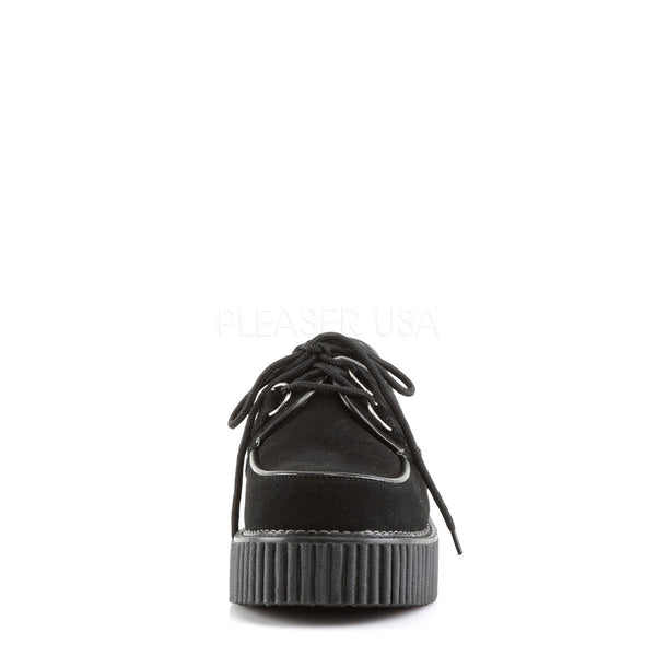 DEMONIA Women's CREEPER-101 Black Suede Creepers - Shoecup.com - 4