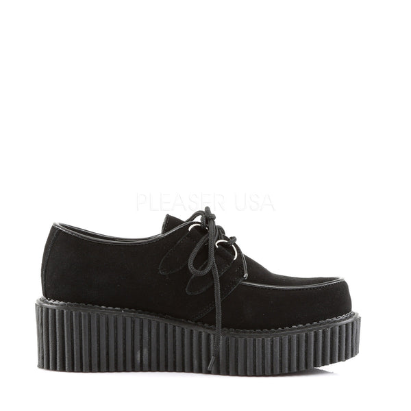 DEMONIA Women's CREEPER-101 Black Suede Creepers - Shoecup.com - 3