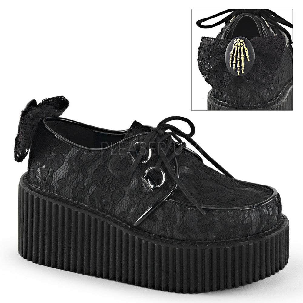 Demonia CREEPER-212 Black Vegan Leather Creepers